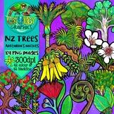New Zealand Trees Clip Art
