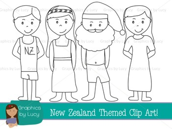 New Zealand Clip Art Set! 20 PNG Images {Personal & Commercial Use}
