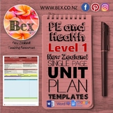 New Zealand PE & Health Unit Plan Template (Level 1 NZC)