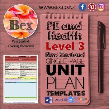 New Zealand PE & Health Unit Plan Template (Level 3 NZC)