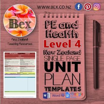 New Zealand PE & Health Unit Plan Template (Level 4 NZC)
