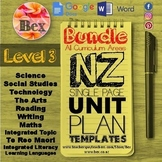 New Zealand Unit Plan Template Bundle (Level 3 NZC)