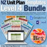 New Zealand Unit Plan Template Bundle (Level 4 NZC)