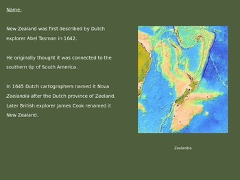 New Zealand - Power Point - Information Facts Pictures History Animals
