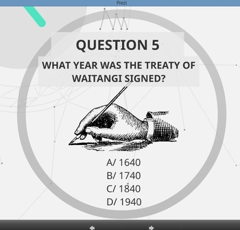 New Zealand Quiz - PREZI. Great for a Team Challenge or Matariki activity.