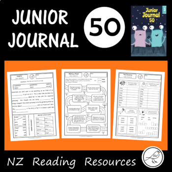 New Zealand Reading - Junior Journal 50 - Activity Worksheets