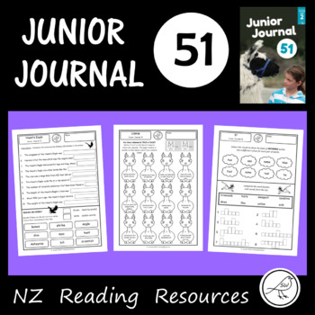 New Zealand Reading - Junior Journal 51 - Activity Worksheets