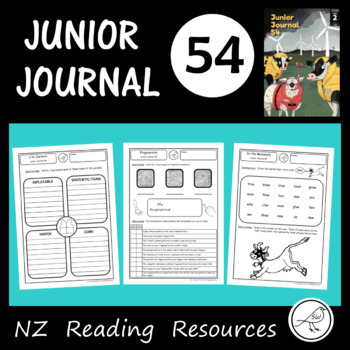 New Zealand Reading  -  Junior Journal 54  -  Activity Worksheets