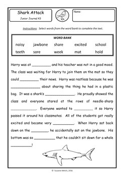 New Zealand Reading - Junior Journal Worksheets - 40-44