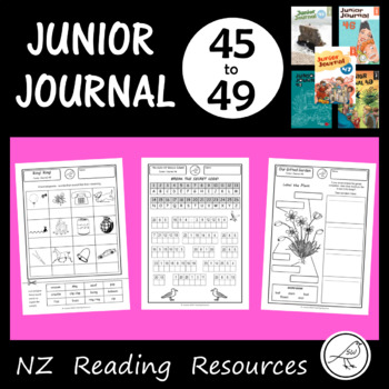 New Zealand Reading - Junior Journal Worksheets - 45-49