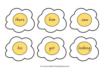 New Zealand Reading -  Sight Words – 'Egg Flip' activity