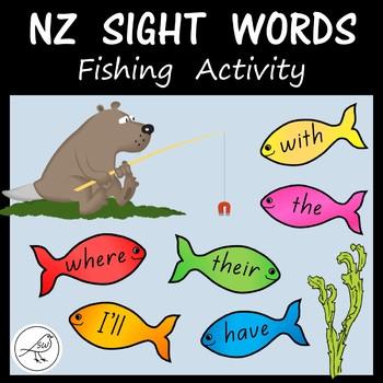 New Zealand Sight Words - Fishing Activity