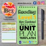 New Zealand Reading Unit Plan Template (Level 1 NZC)