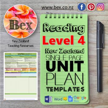 New Zealand Reading Unit Plan Template (Level 4 NZC)