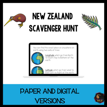 New Zealand Scavenger Hunt works with Google Classroom™