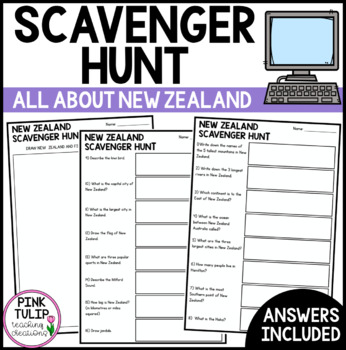 New Zealand Scavenger Hunt - Research Based