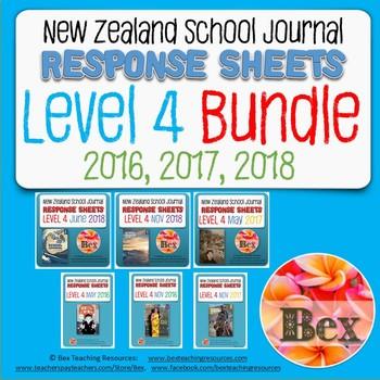 New Zealand School Journal Level 4 - 2016, 2017, 2018 Bundle
