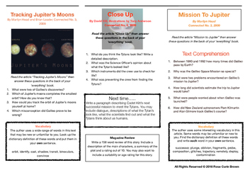 New Zealand School Journal Reading Comprehension Questions