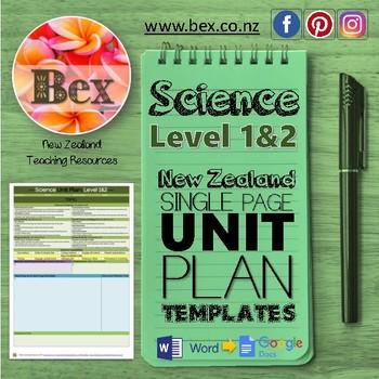 New Zealand Science Unit Plan Template (Level 1&2 NZC)