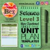 New Zealand Science Unit Plan Template (Level 3 NZC)