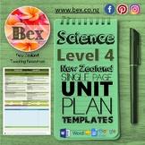 New Zealand Science Unit Plan Template (Level 4 NZC)