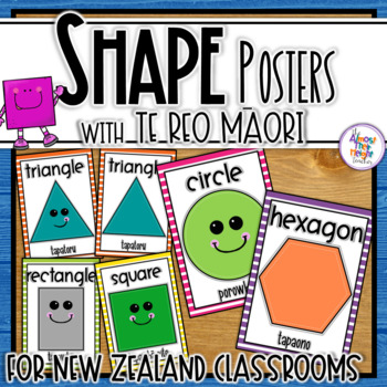 New Zealand Shape Posters with English & Maori