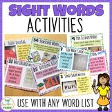 Sight Words Activity Pack