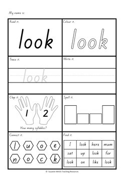 New Zealand Sight Words  -  Activity Sheets (Magenta Red Yellow)