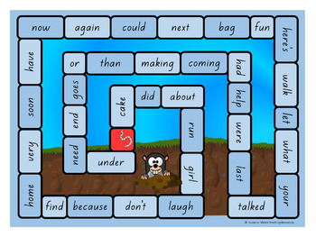 New Zealand Sight Words – Blue Board Games