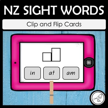 New Zealand Sight Words – \'Clip and Flip\' Word Frame Cards | TpT