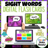 New Zealand Sight Words Digital Flash Cards Magenta-Orange for Google Drive®