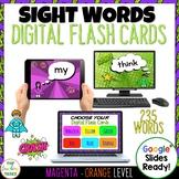 New Zealand Sight Words Digital Flash Cards Magenta-Orange
