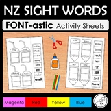 New Zealand Sight Words – FONT-astic activity sheets