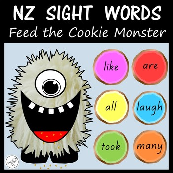 New Zealand Sight Words – Feed the Cookie Monster
