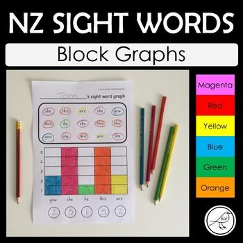 New Zealand Sight Words – Graphs