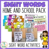 New Zealand Sight Words Home and School Pack Magenta to Orange