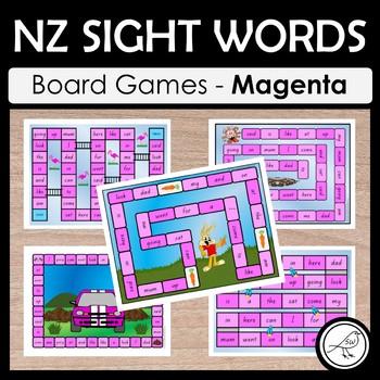 New Zealand Sight Words – Magenta Board Games