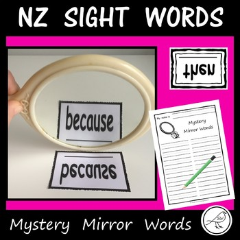 New Zealand Sight Words – Mystery Mirror Words