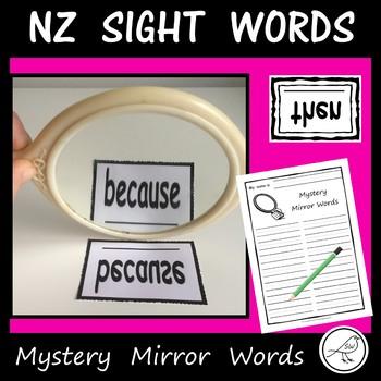 New Zealand Sight Words – Mystery Mirror Words