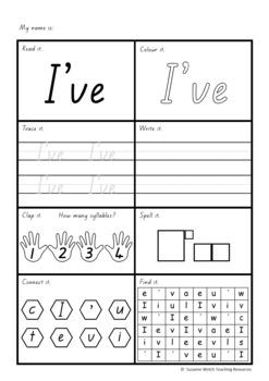 New Zealand Sight Words – ORANGE worksheets