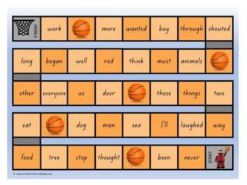 New Zealand Sight Words – Orange Board Games