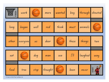 New Zealand Sight Words – Orange Board Games
