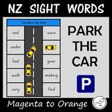New Zealand Sight Words – 'Park the car' activity