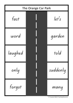 New Zealand Sight Words – 'Park the car' activity
