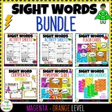 New Zealand Sight Words Bundle Magenta Red Yellow Blue Gre