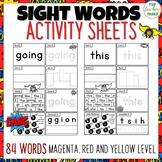 New Zealand Sight Words - SUPER Activity Sheets Magenta -