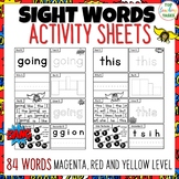 New Zealand Sight Words - SUPER Activity Sheets Magenta, R