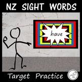 New Zealand Sight Words – Target Practice