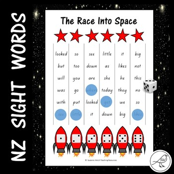 New Zealand Sight Words – 'The Race into Space' game.