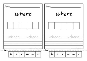 New Zealand Sight Words – 'Trace, Write, Cut and Paste' activity - Magenta & Red